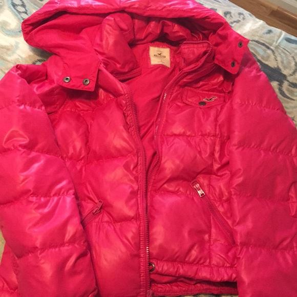Hollister Jackets & Blazers - Pink Polyester Jacket